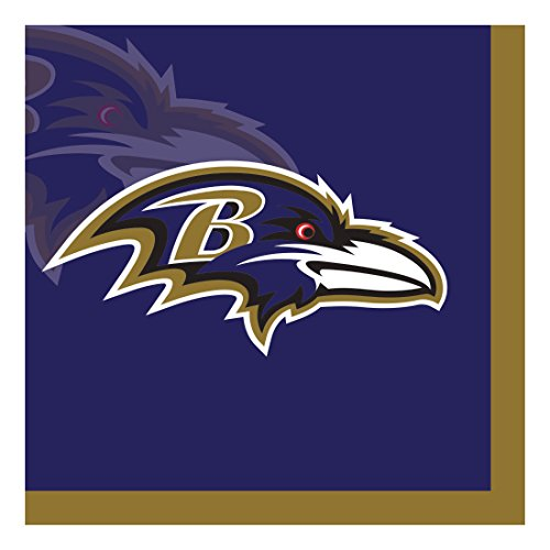 Ravens Baltimore Paper (Creative Converting Officially Licensed NFL Paper Beverage Napkins, 192-Count, Baltimore Ravens)