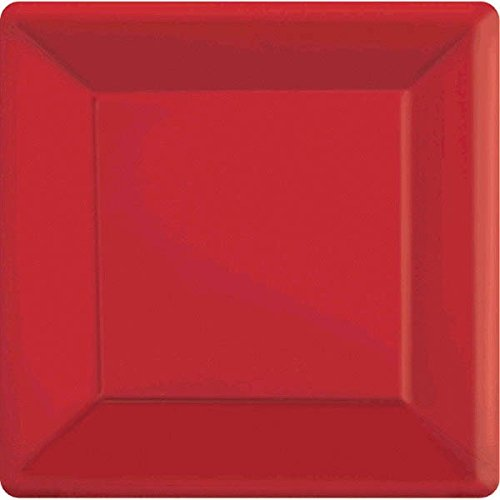 (Amscan 69920.399999999994 Square Paper Plates Party Supplies One Size)