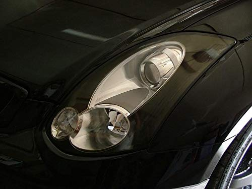 - Precut Vinyl Tint Cover with GTR Style Cutout for 2006-2007 G35 Coupe Headlights (20% Dark Smoke)