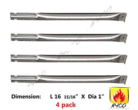 Vicool hyB564 (4-pack) Straight Stainless Steel Pipe Burner for Char Broil, Charmglow, Costco Kirkland, Grand Isle, Jenn Air, Kenmore Sears, K Mart, Member's Mark, Nexgrill, Perfect Flame By (Charmglow Sear Burner)