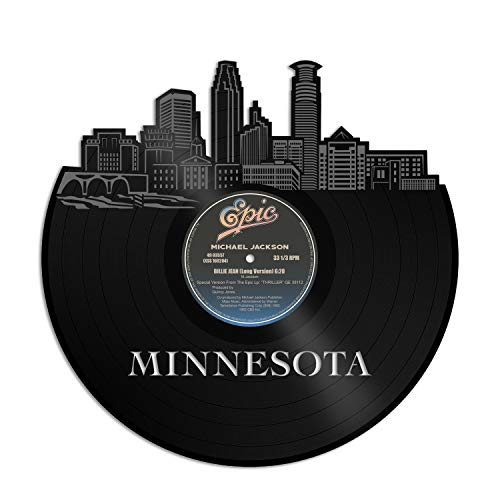 VinylshopUS - Minnesota Vinyl Wall Art with Out Frame Skyline Souvenir Anniversary Best Gift Home and Office | Room Decoration