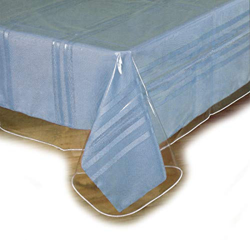 SOFINNI Clear Plastic Tablecloth Protector, Table Cloth Vinyl (60