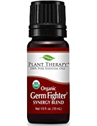 Plant Therapy Germ Fighter Organic Synergy Essential Oil 10 mL (1/3 oz) 100% Pure, Undiluted, Therapeutic Grade