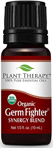Plant Therapy Germ Fighter Synergy Essential Oil 100% Pure, Undiluted, Therapeutic Grade (10 mL (1/3 oz) Organic)