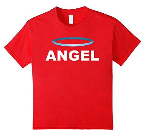 [unisex-child Angel Devil Best Friend T Shirts - Matching BFF Outfits Tees 4 Red] (Red Devil Outfit)