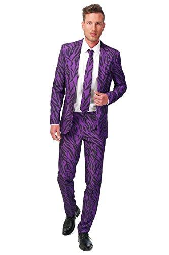 Pimp Suit Purple Adult Costumes (SuitMeister Pimp Tiger (Medium (38-40)))
