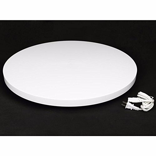OPENCLOUD White 60cm / 24'' 80KG Loading 360 3D Rotating Display Stand Turntable 110V by OPENCLOUD