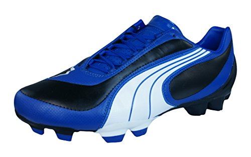 PUMA V3.08 i FG Mens Leather Soccer Boots/Cleats-Black-9.5