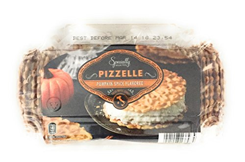 Chocolate Italian Cookies - Pumpkin Spice Pizzelle Italian Waffle Cookies Specially Selected - 7 Oz Package Contains 4 Wrapped Packs of 9-11 Pizzelles