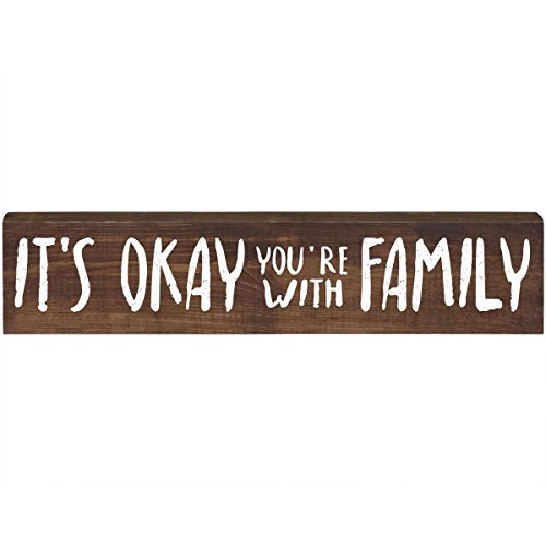 It's Okay Inspirational Pine Block for Women and Men Gift ideas for Husband, Wife, Family, and Best Friends 2