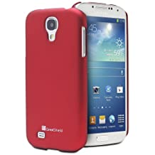 GreatShield Guardian HQ Series Slim Fit Snap On Rubberized Back Hard Protector Case Cover for Samsung Galaxy S4 S IV GT-I9500 (Metallic Red)