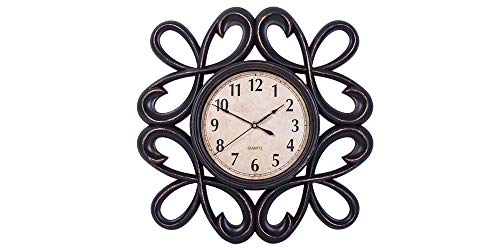 Smart Sense Wall Clocks 19 Inches Silent Non-Ticking Quartz Wall Clock Decorative Indoor Kitchen Clock, 3D Numbers Display, Battery Operated Wall Clocks by Smart Sense Decor