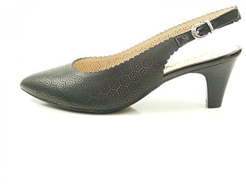 Caprice 29601, Sandalias de Talón Abierto Para Mujer Schwarz