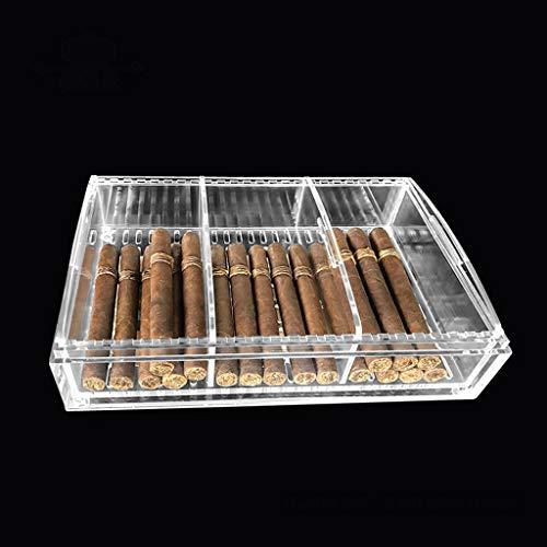 $256.80 cuban crafters humidor Acrylic Cigar Humidor Box, Sealed Insect-Proof Large-Capacity Cigar Box Cuban Cigar Smoking Set 2019