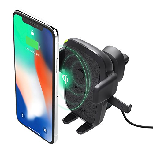 iOttie Easy One Touch Qi Wireless Fast Charge Air Vent Car Mount for Samsung Galaxy, Standard Charge for iPhone X,...