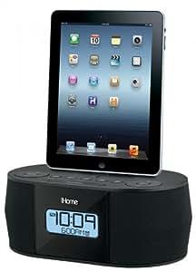 iHome ID 38 - Base de conexión para Apple iPad (radio, reloj despertador), negro