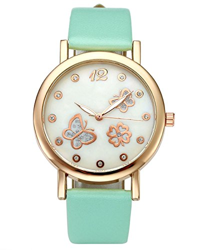 Top Plaza Butterfly Rhinestone Watch Mint