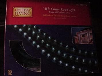 HOLIDAY LIVING 18 FT  GREEN ROPE LIGHT INDOOR OUTDOOR USE NEWAmazon com   HOLIDAY LIVING 18 FT  GREEN ROPE LIGHT INDOOR OUTDOOR  . Holiday Living Rope Lights. Home Design Ideas