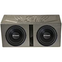 2) Q Power 15 2200W Deluxe Series DVC Subwoofers + Dual 15 Vented Port Sub Box
