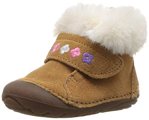 - Stride Rite Sophie Baby Girl's Adjustable Suede Boot Ankle, Brown, 4 M US Toddler
