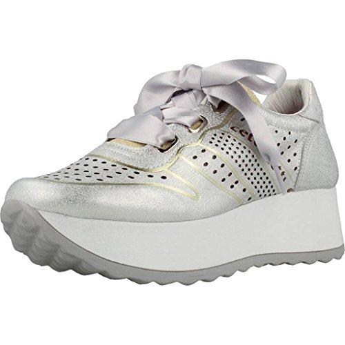 para CETTI Color para Mujer Calzado Modelo Mujer Plateado CETTI V18 Deportivo Plateado Deportivo Plateado Calzado Marca C1073 qtv7nFw