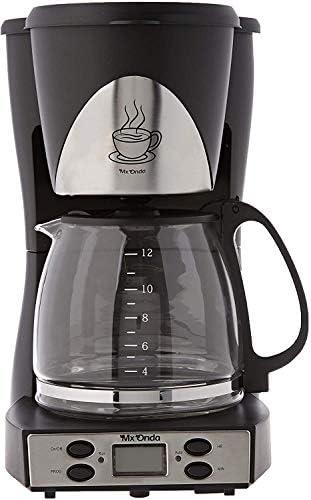 Mx Onda MXCE 2258-B Cafetera Goteo programable. Cafetera de Filtro para 12 Tazas Cafe, Coffee Machine. 1000W Cafetera Goteo 12 Tazas: Amazon.es: Hogar