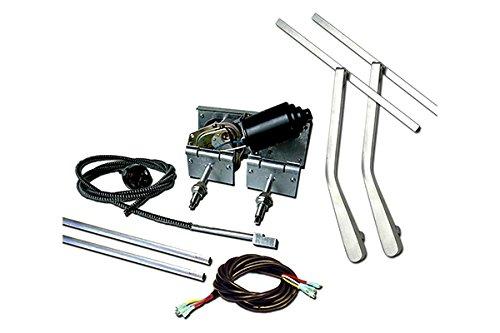 AutoLoc Power Accessories 160156 Heavy Duty Power Windshield Wiper Kit with Bottm Mount Wiper Arms