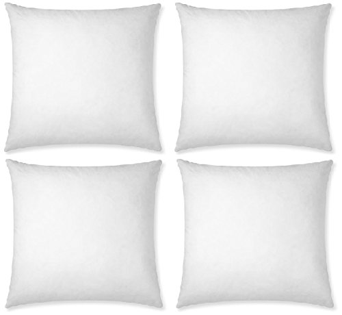 Best Emart 4 pack 20×20 Square Pillow Inserts Made in USA
