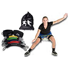 LockDown Defender (TM) Resistance Training Bands Improve Lateral Movement,Quicker on Defense, Great for P90X, Insanity, T25