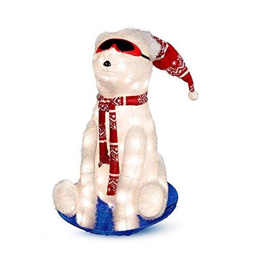 Outdoor Lighted Polar Bear Decorations - 1