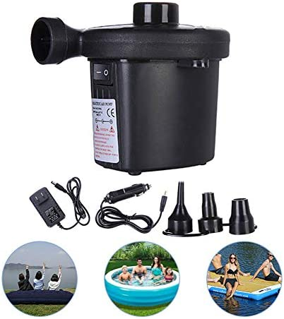 Unigant Electric Air Pump Air Mattress 110V3 Nozzles Inflator Deflator Pumps Raft Boat Air Bed Pool Toy Swimming Ring Household Electrical Appliances Small Durable Air Pump