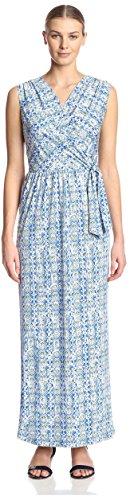 James Surplice amp; Dress L Multi Blue Maxi Women's Erin txxr6S