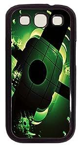 Samsung Note S3 CaseBlack And Light Green PC Custom Samsung Note 2 Case Cover Black