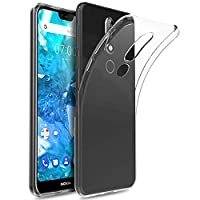 Vicstar Nokia 7.1 Case, Ultra-Thin TPU Back Case Anti Slip Shock Absorbing Silicone Light Brushed Grip Case Protective Case Cover for Nokia 7.1