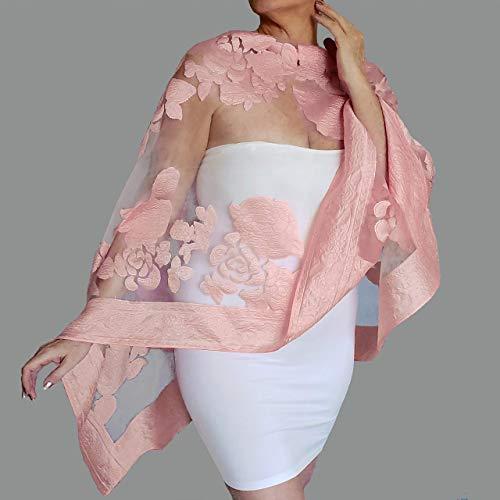 e8265650a5 Amazon.com: Plus Size Rose Gold Wrap Blush Wedding Shawl Scarf By ZiiCi:  Handmade
