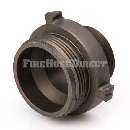 Aluminum 2 1/2'' NH to 2'' NPT Double Male Fire Hose Adapter