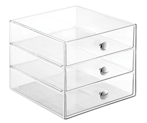 interdesign-3-drawer-storage-organizer-for-makeup-beauty-products-office-supplies-clear