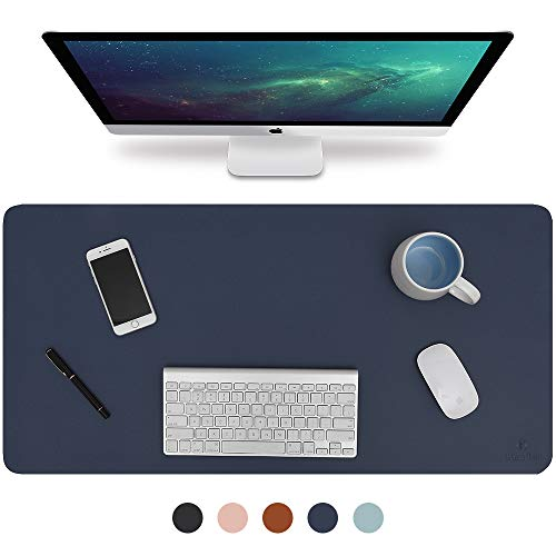 Black Laptop Mat for Office//Home PU Leather Desk Mat Blotters 24 x 14 MONYES Thick Desk Pad Protector