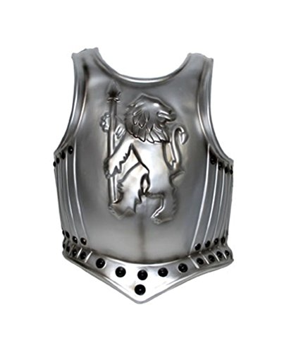 Silver Medieval Knight Breast Chest Armor Shield Costume Accessory (Plastic Armor Costume)