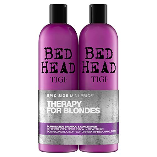 - Tigi Tigi Bed Head Dumb Blonde Shampoo & Reconstructor Conditioner Duo Pack, 50 Oz