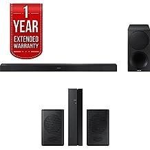 Samsung 320W 2.1ch Soundbar w/ Wireless Subwoofer (HW-M450/ZA) + Rear Speaker Bundle Includes, Samsung (SWA-8500S/ZA) Wireless Rear Speakers Kit & 1 Year Extended Warranty