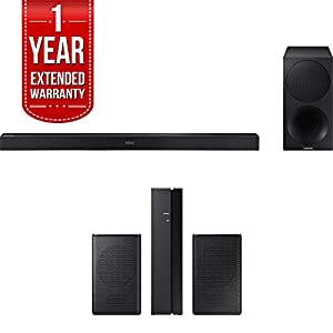 Samsung 320W 2.1ch Soundbar w/ Wireless Subwoofer (HW-M450/ZA) + Rear Speaker Bundle Includes, Samsung (SWA-8500S/ZA) Wireless Rear Speakers Kit & 1 Year Extended Warranty