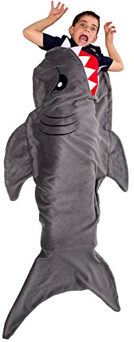 Silver Lilly Shark Tail Blanket - Plush Animal Sleeping Bag Blanket for Kids by (Grey) by Silver Lilly (Image #1)