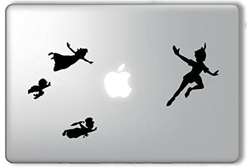 Peter Pan Flying Version 2 - Apple Macbook Laptop Vinyl Sticker Decal