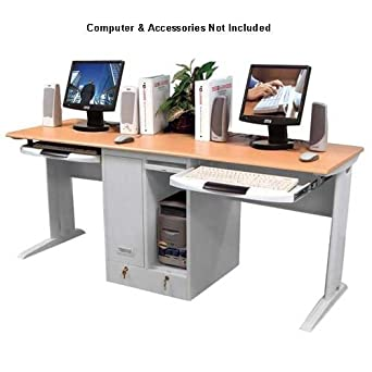 Amazoncom LUXOR LCW180 Double Person Computer Workstation