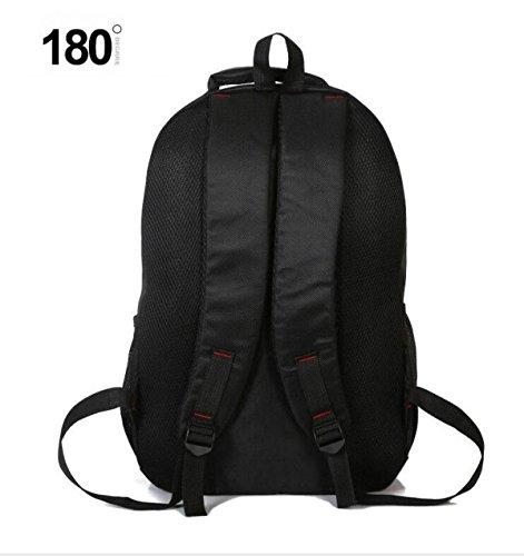 Laptop Rucksack Daypack Casual Rucksack Wasserdichte Männer Und Frauen Schultasche Für Studenten Wandern Arbeit Reise Outdoor Sports (Schwarz)