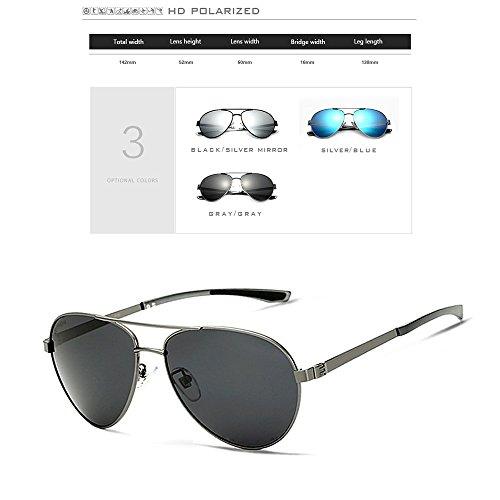 Gafas Inoxidable Acero De Gafas Blue De Y De para Polarizadas Gray De Sol Sol Hombres Aluminio Magnesio BqBwfSUr