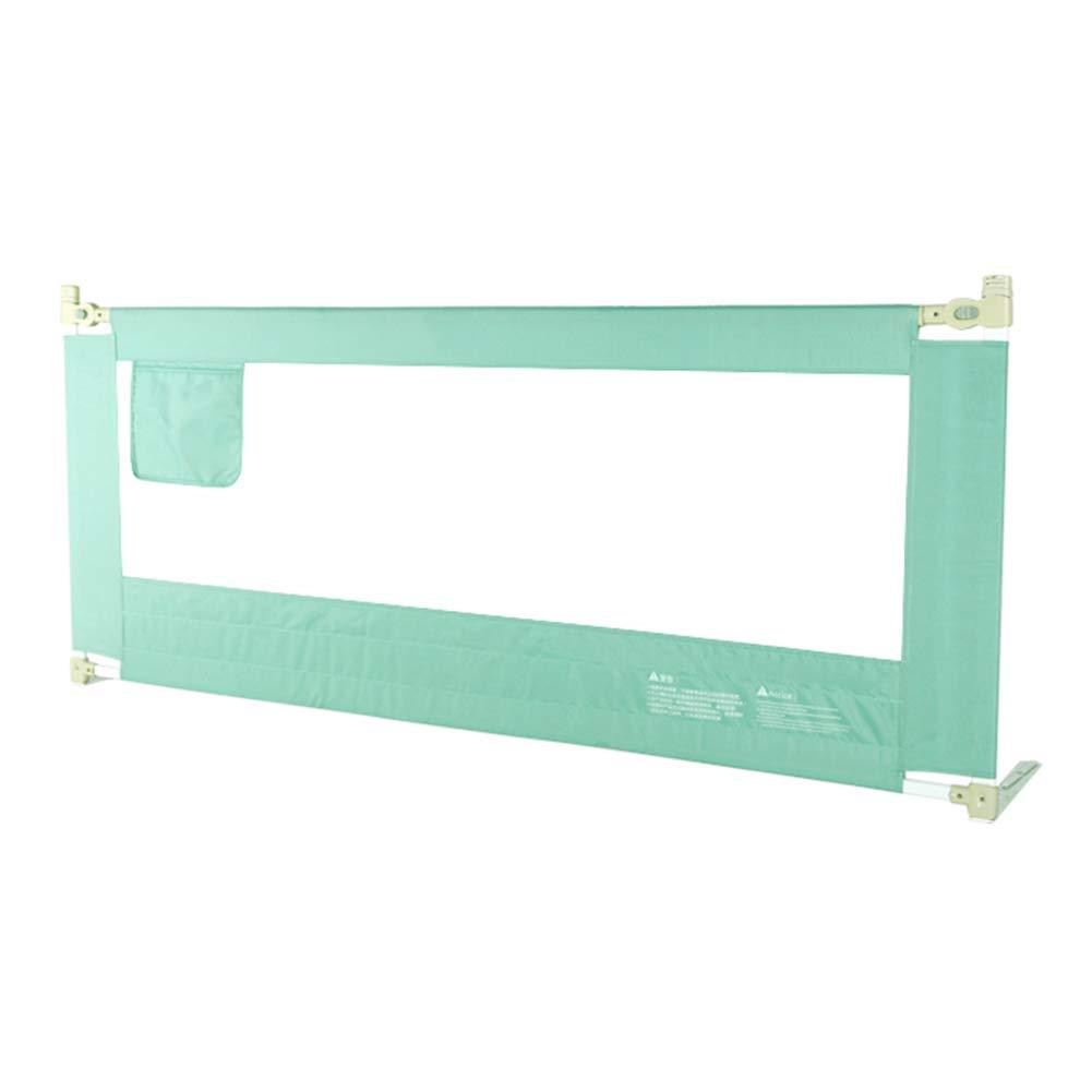ベッドフェンス, 幼児のためのポータブルベッドレール、垂直エレベーターベッドレールのガード/キングサイズベッド - 85センチメートル(グリーン) (サイズ さいず : 200cm) 200cm  B07KB55XS2