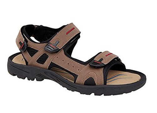 Trail Sports Brown Men's Velcro Triple Walking Sandals wHyyRBIq