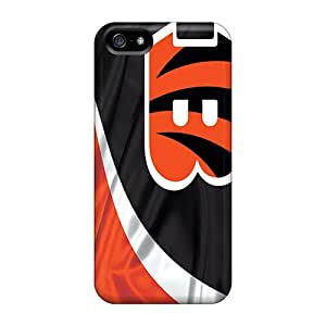 Iphone 5/5s RFk3684dYBI Allow Personal Design Vivid Cincinnati Bengals Pattern Shockproof Hard Phone Case -JoanneOickle